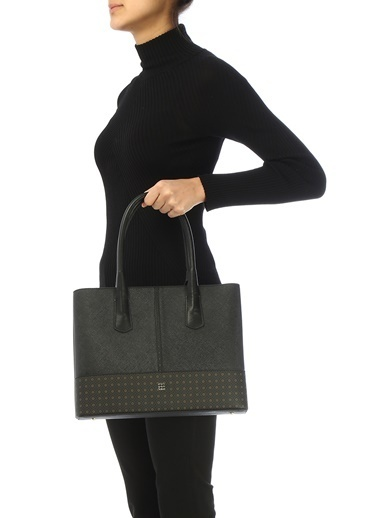 Beymen Beymen  Mikro Logo Desen Detaylı Kadın Omuz Çantası 101458616 Siyah